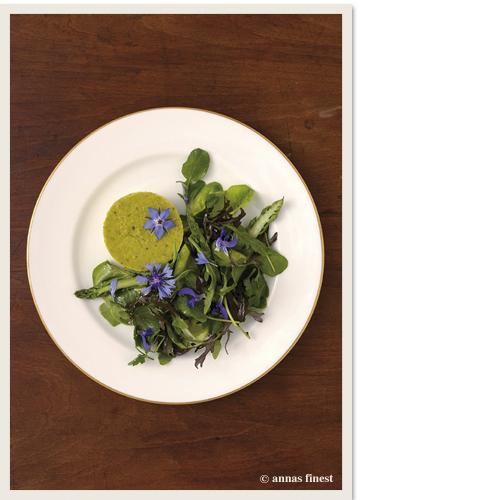 Flan / Sommersalate / Wildblüten